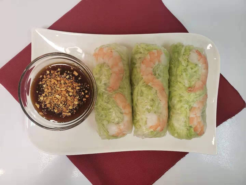 1. Shrimp and Pork Salad Rolls (3 rolls. Extra roll $3)